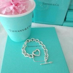 Tiffany & Co Heart & Arrow Toggle Bracelet VINTAGE